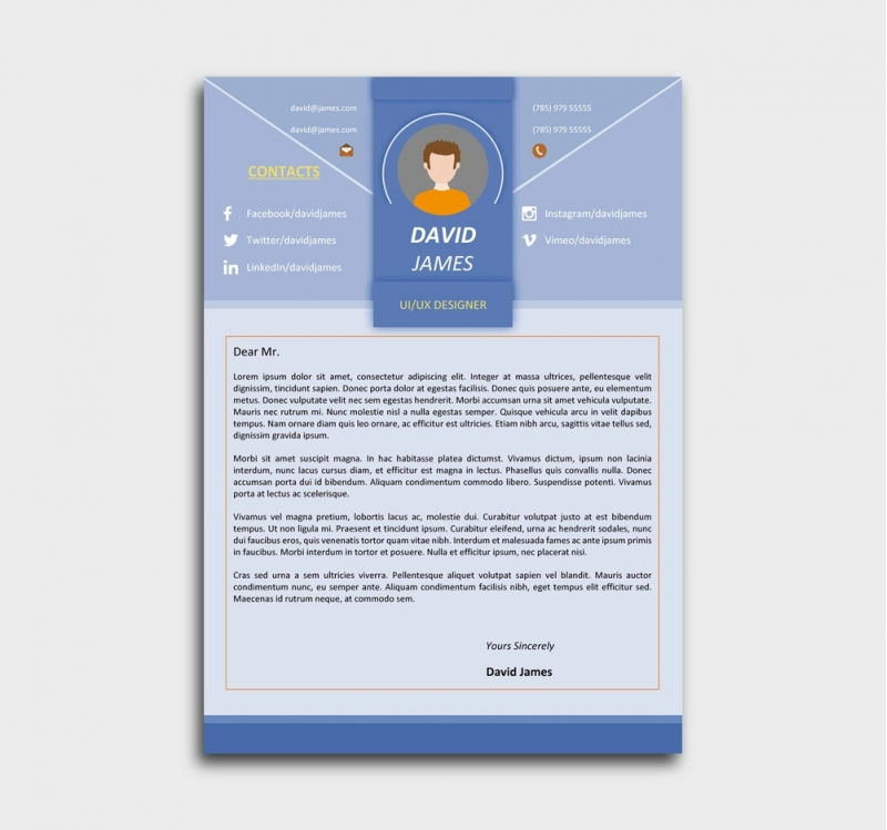 libreoffice resume cover letter template