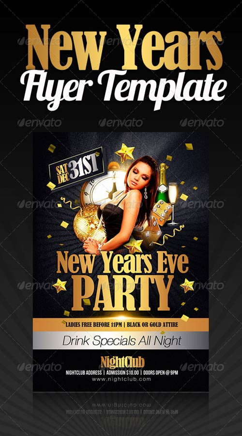 GraphicRiver New Years Party Flyer - new years party flyer
