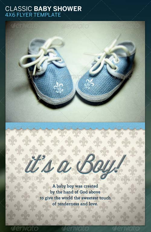 Free Baby Shower Flyer Template - Baby Shower Invitations - baby shower flyer template free