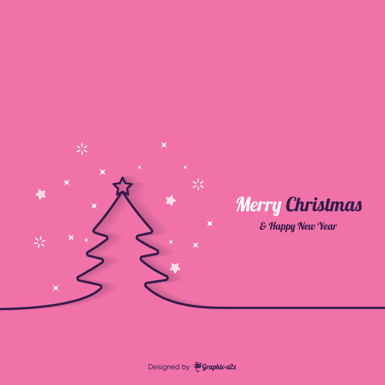 Minimal line christmas tree background Free Vector - Graphica2z
