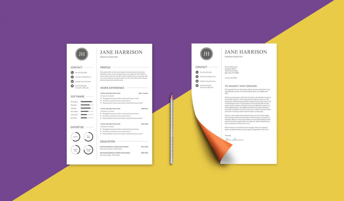 Cover Resume Free Resume Template And Cover Letter Graphicadi