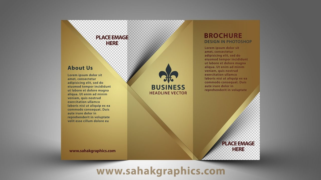 Cc Tutorial Tri Fold Brochure Design Photoshop Cc Tutorial Golden Graphic