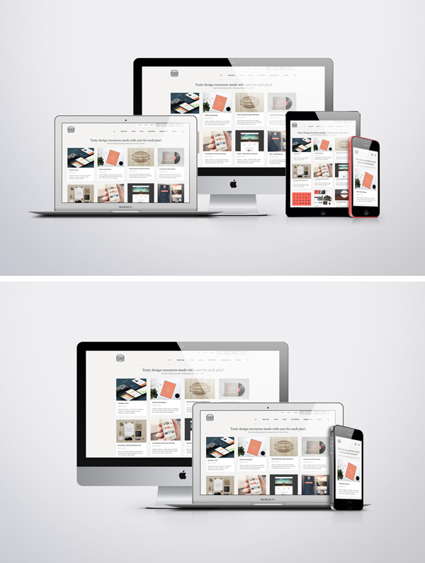Mockup Iphone And Ipad Apple Responsive Screen Mockups | Graphicburger