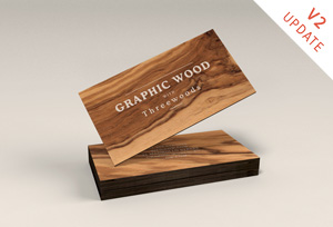 Iphone Wallpaper Psd Template Wooden Business Cards Mockup Graphicburger