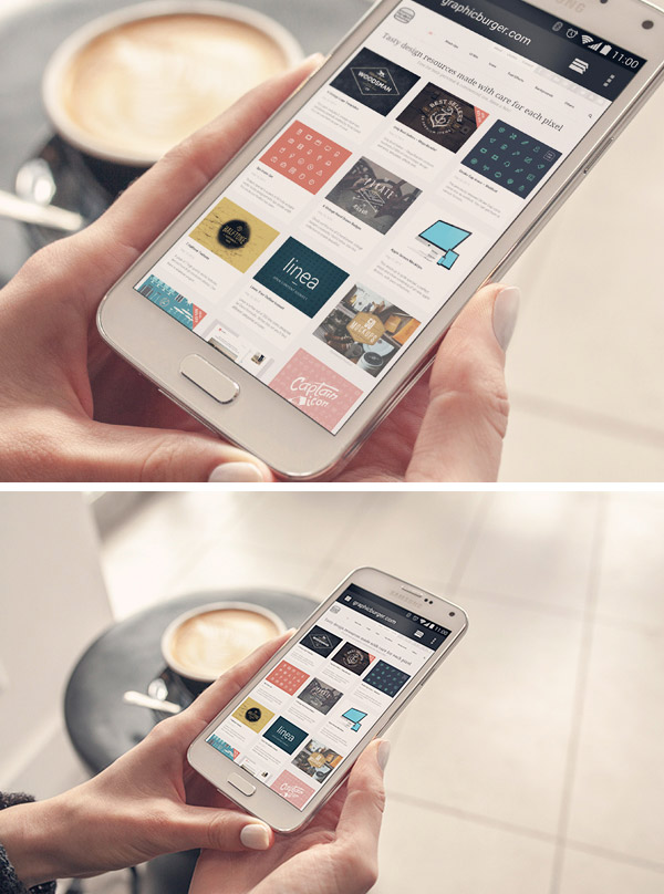 Samsung S3 3d Wallpaper Android Phone Psd Mockup Graphicburger