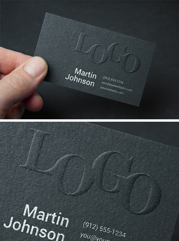 Embossed Business Card MockUp #2 GraphicBurger