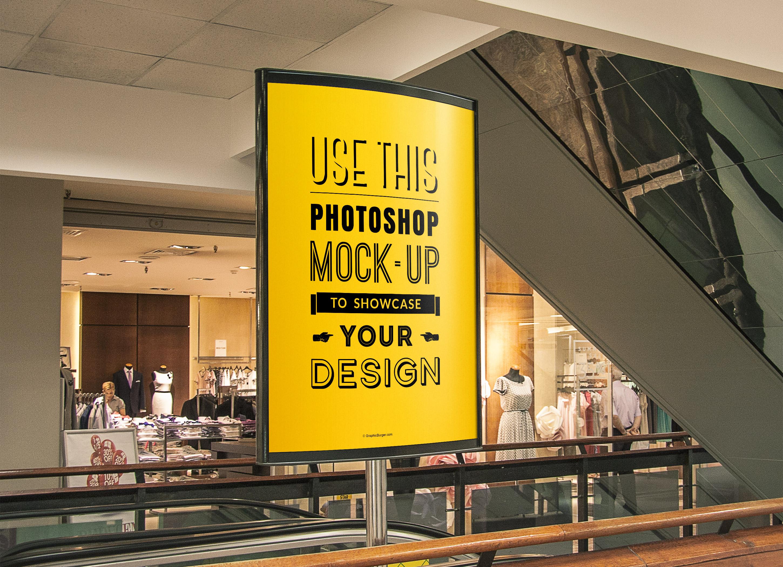 Indoor Advertising Poster Mockup Graphicburger