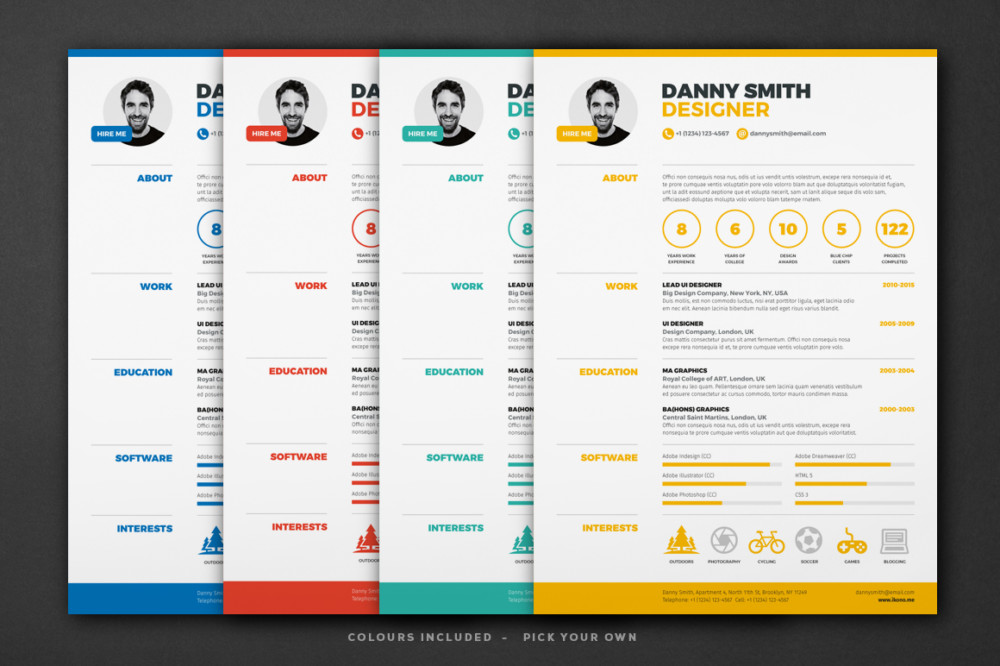 18+ One Page Resume Template - Ai, InDesign, PSD and Word Format