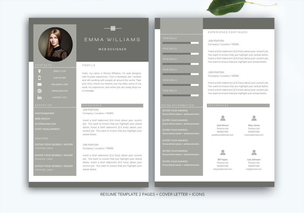 21+ Web Designer Resume Templates - InDesign, PSD, MS Word, AI