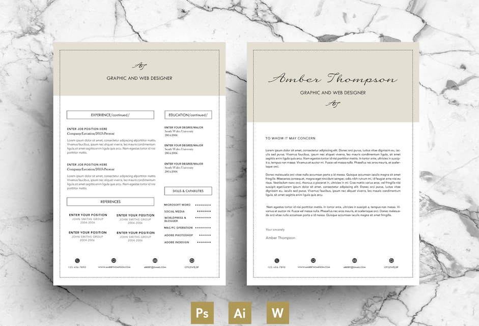 20+ Business Resume Template Word, PSD, EPS and AI Format - resume template word