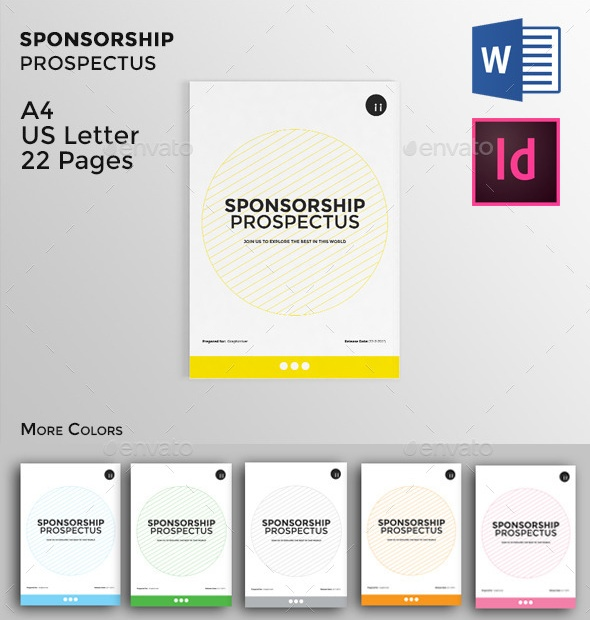 5+ Sponsorship Proposal Template Word, InDesign and PSD Format