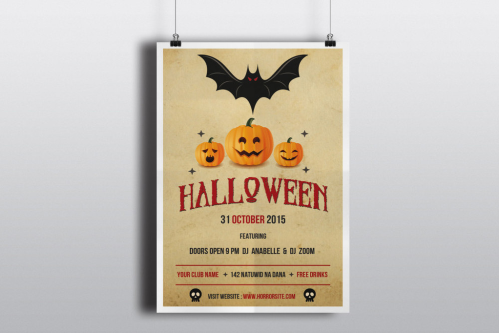 25+ Halloween Party Flyer/Poster PSD Templates - Graphic Cloud