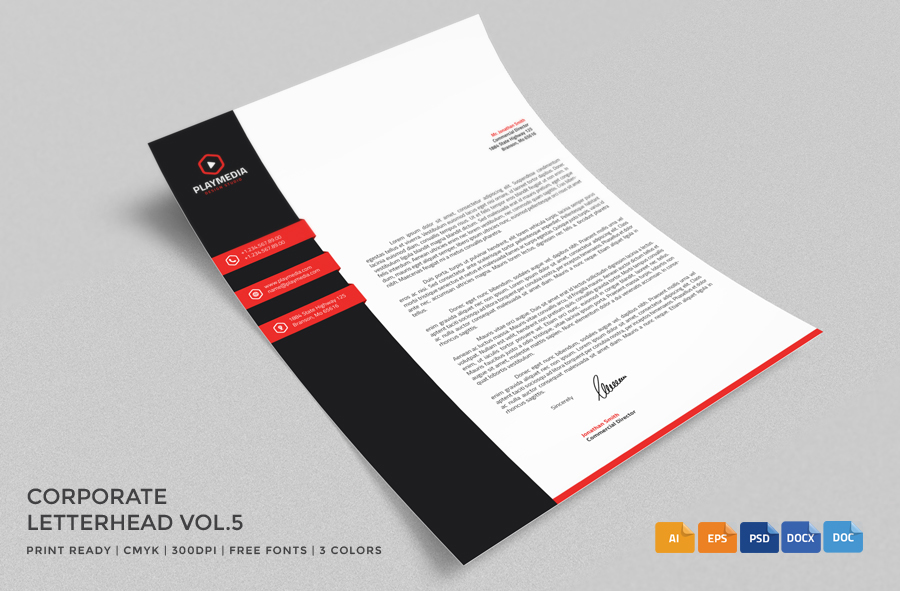 Adobe Creative Marketing And Document Management Solutions 20 Professional Company Letter Head Templates Graphic Cloud