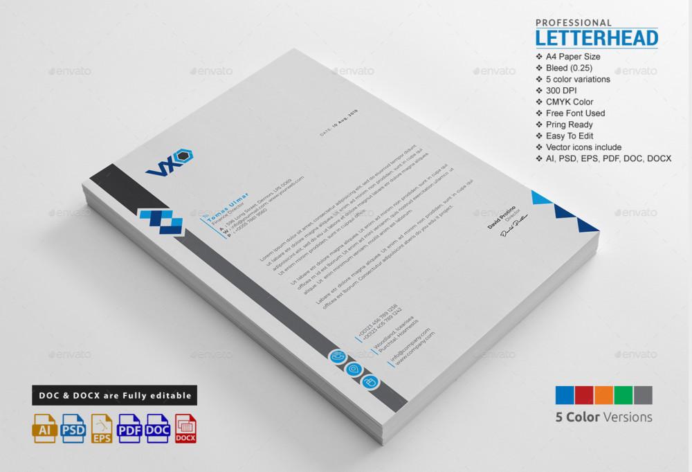 Psd Letterhead Template Professional Letterhead Template Psd Is - professional letterhead