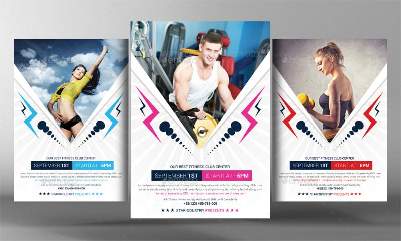 20+ Fitness Flyer Template PSD for Fitness Center, Gym and Health - fitness flyer