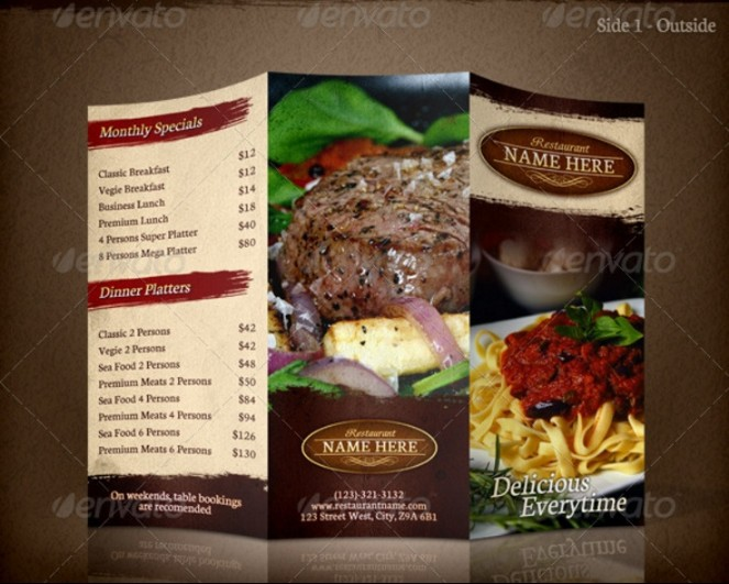 15+ Restaurant Brochure Template Word, PSD and InDesign Format