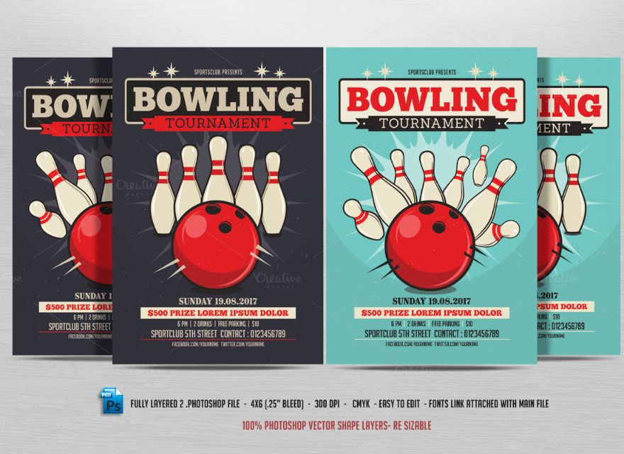 15+ Bowling Invitation Template PSD,,PDF and Vector EPS Format