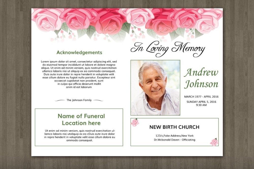 Amazing Memorial Flyer Template Sketch - Resume Ideas - namanasa