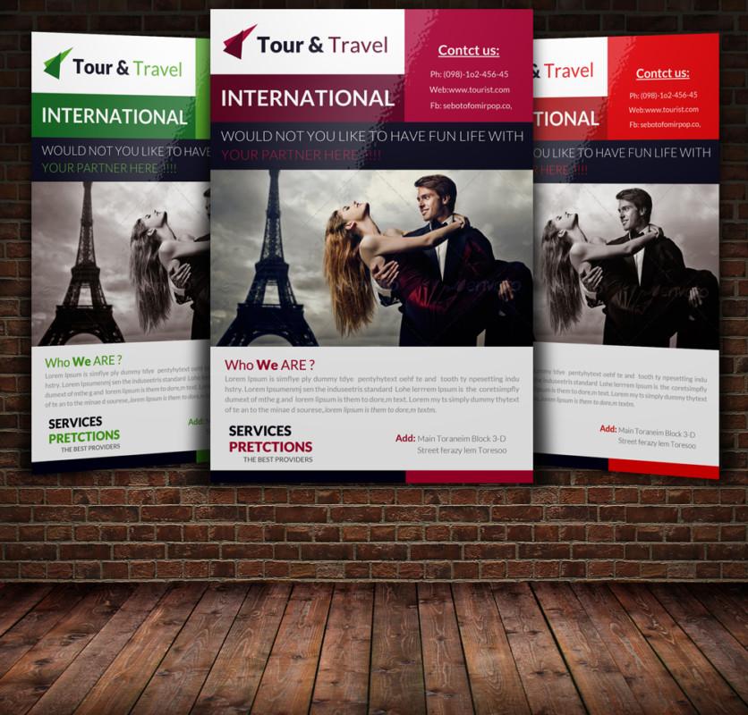 15+ Travel  Tourism Flyer PSD Templates - Graphic Cloud