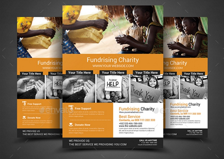 Fundraiser flyer template psd website 2018 - Disaster Relief Flyer