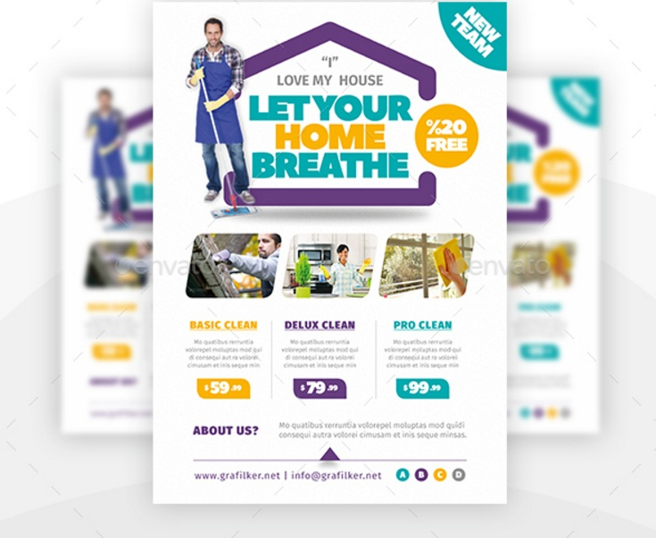 Top Result 60 Elegant Cleaning Company Flyers Template Gallery 2017 - house cleaning flyer template