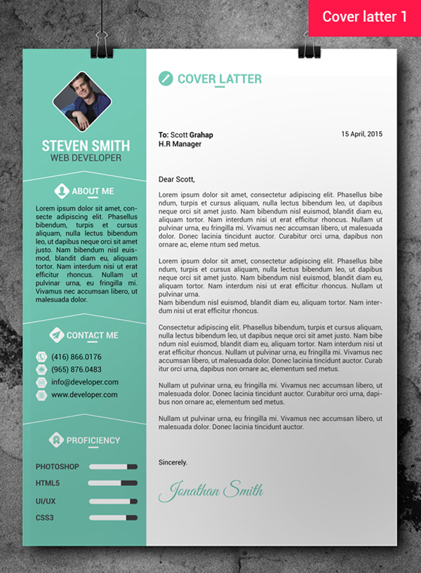 cv template photoshop free download
