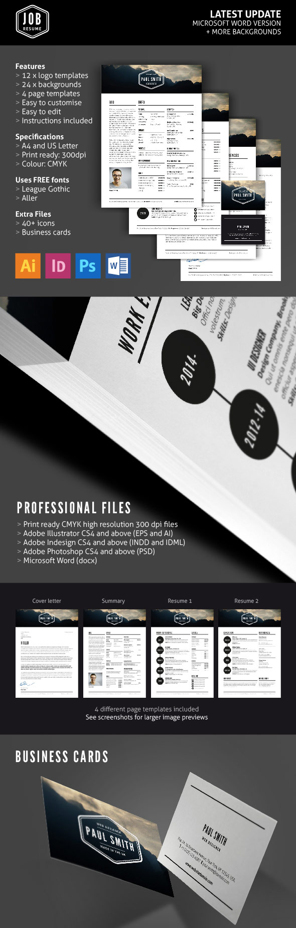 cv cover page design templates