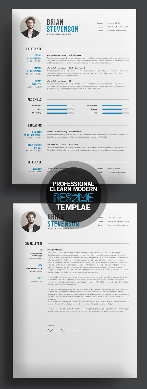 free cv template two pages