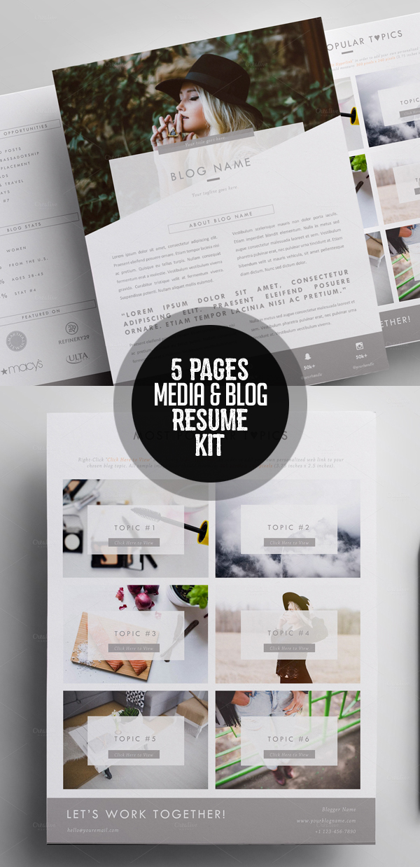 modern resume template pages