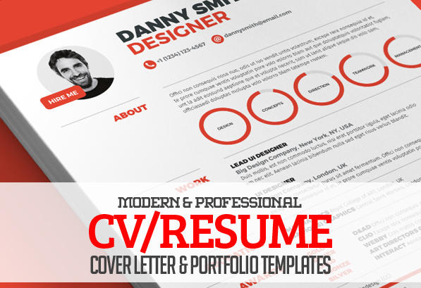 Resume Template Etsy Modern Cvresume Templates Cover Letter And Portfolio Page