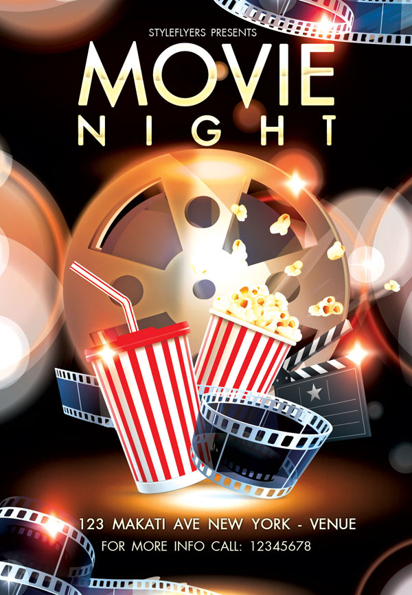 free movie flyer template