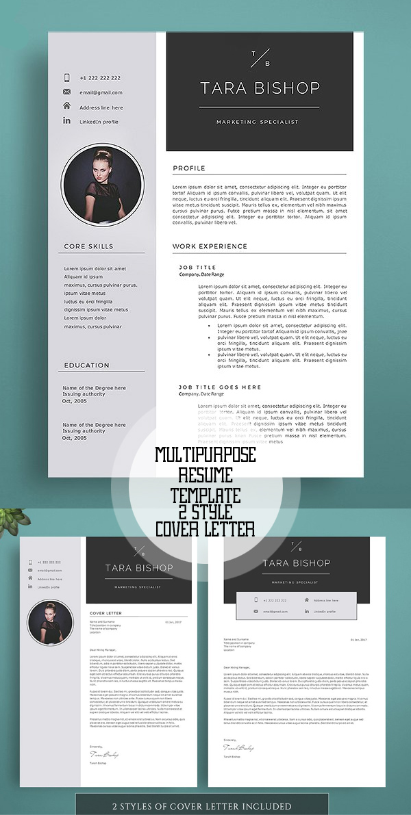 graphic design template resume