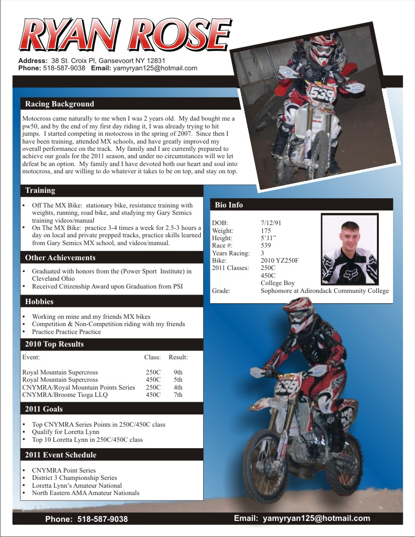 Sponsorship Proposal Cover Letter Template Ryan Rose Racing – Apparel And Sponsorship Resume The