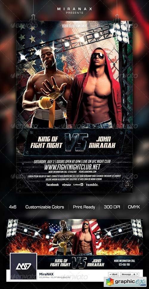 MMA/UFC - Showdown Flyer Template » Free Download Vector Stock Image