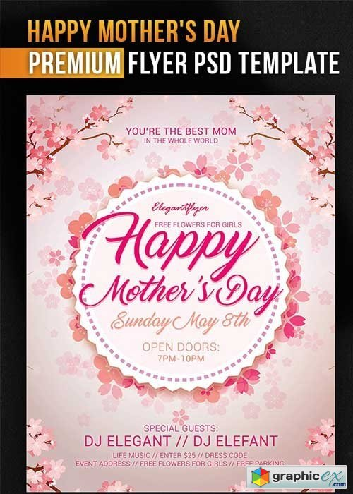 Mothers Day V8 PSD Flyer Template » Free Download Vector Stock Image
