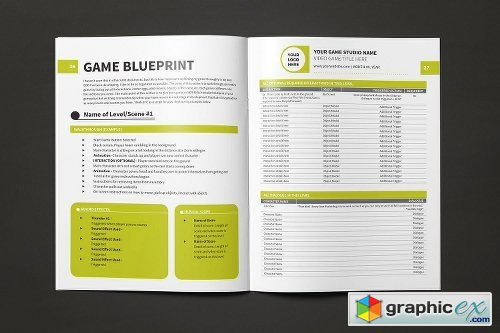Game Design Document Template » Free Download Vector Stock Image - game design doent template