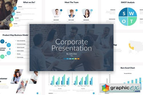 Corporate Powerpoint Template » Free Download Vector Stock Image