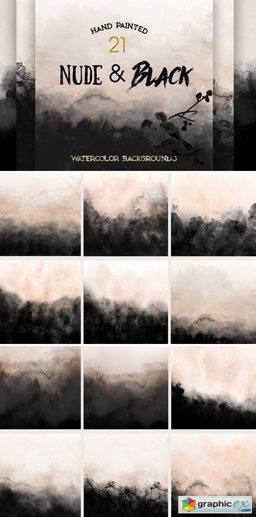Nude  Black Watercolor Backgrounds » Free Download Vector Stock
