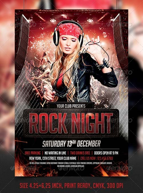 Flyer Templates - GraphicRiver Fight / MMA / UFC Night Flyer