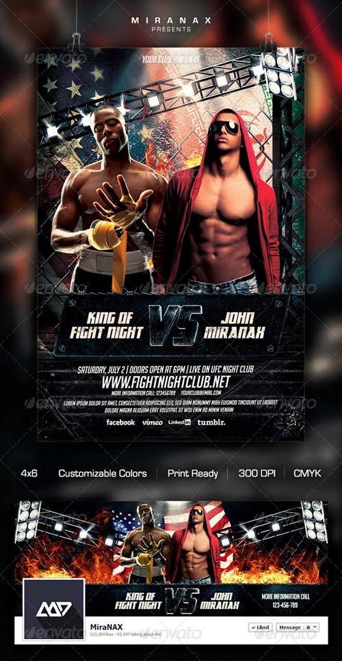 Flyer Templates - GraphicRiver MMA/UFC - Showdown Flyer Template