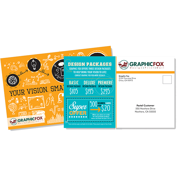 FREE Address Imprinting with Direct-Mail Postcards (a $70 value)
