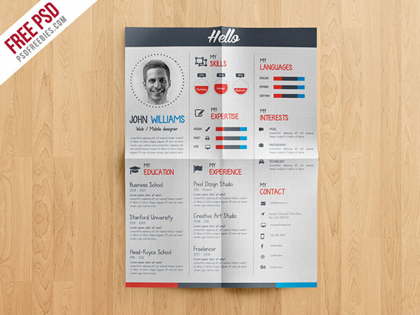 20+ Best Resume Templates For Developers-UI-Graphic \ Web Designers - creative resume template