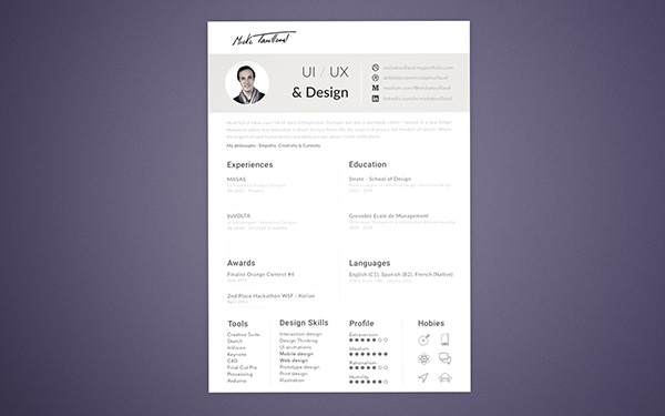 20+ Best Resume Templates For Developers-UI-Graphic  Web Designers