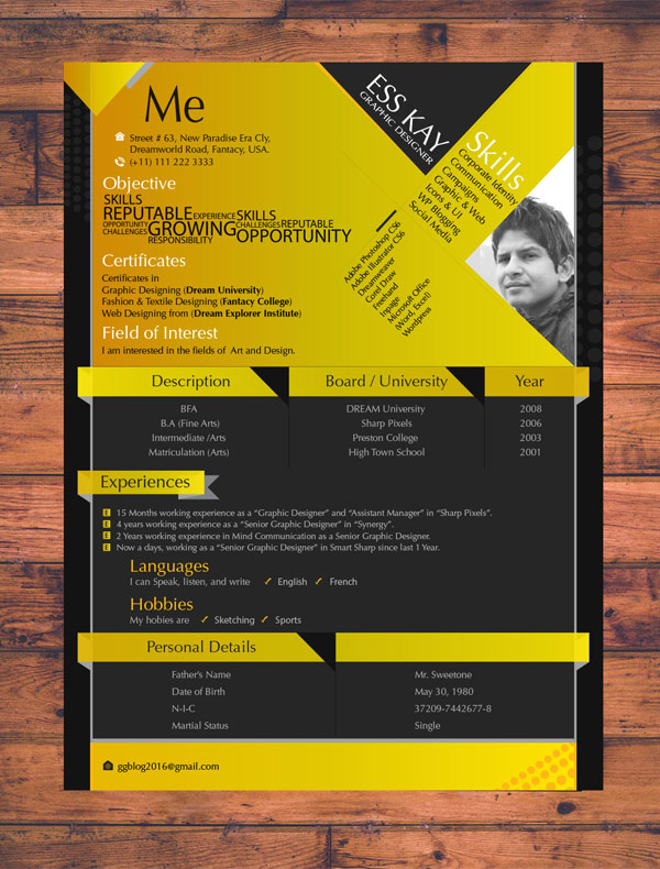 10+ Newest Free  Premium Resume Templates For Graphic  Web Designers - resume templates for designers