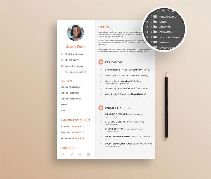 20 Creative  Simple Resume Templates For Designers - Simple Resume Design