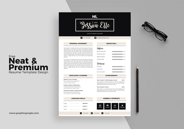 20 Creative  Simple Resume Templates For Designers - resume templates for designers