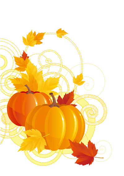 Pumpkins And Fall Leaves Wallpaper Pumpkin Maple Leaf Vector Graphic Hive