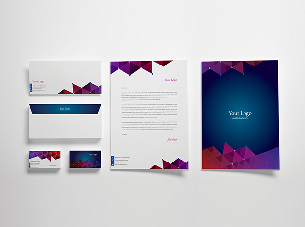 Vector Stationery Template \u2013 GraphicLoads