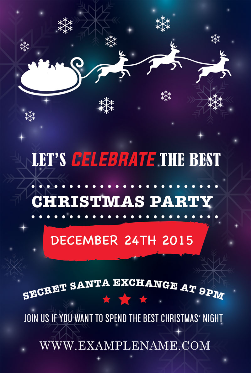 party flyer size