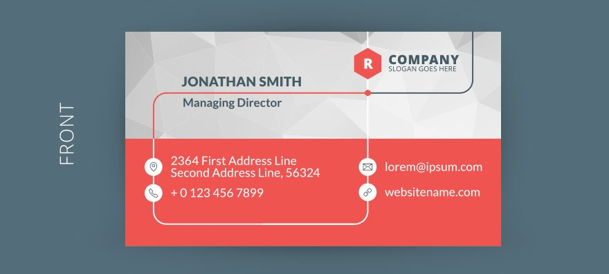 18 Best Free Business Card Templates - GraphicLoads - business card template